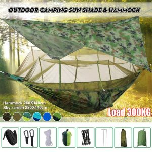 Camping Hammock with Mosquito Net and Sun Shade 1