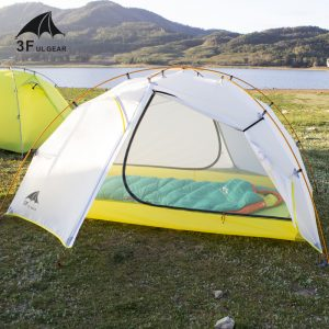 3F UL GEAR Green and white 4 Season Camping Tent 15D Nylon  Double Layer Waterproof Tent for 2 Persons 3
