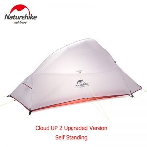 Naturehike Upgraded Cloud Up Series Ultralight Camping Tent Waterproof Outdoor Hiking Tent 20D Nylon  Tent With Free Mat 1