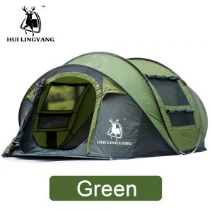 HUILINGYANG Tent Quick Open Automatic Camping Tent 3-4 Persons Outdoor Large Spaces Windproof Camping Picnic Family Tent 1