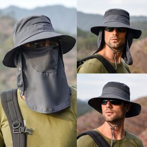 Removable Shawl Hiking Cap 1