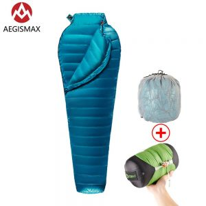 Ultralight Blue White Goose Down Sleeping Bag 1