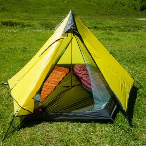 FLAME'S CREED 2-3Person Pyramid Camping Tent 15D Silnylon Coating 3-Season Seam Sealed No Pole Ultralight Hiking 3